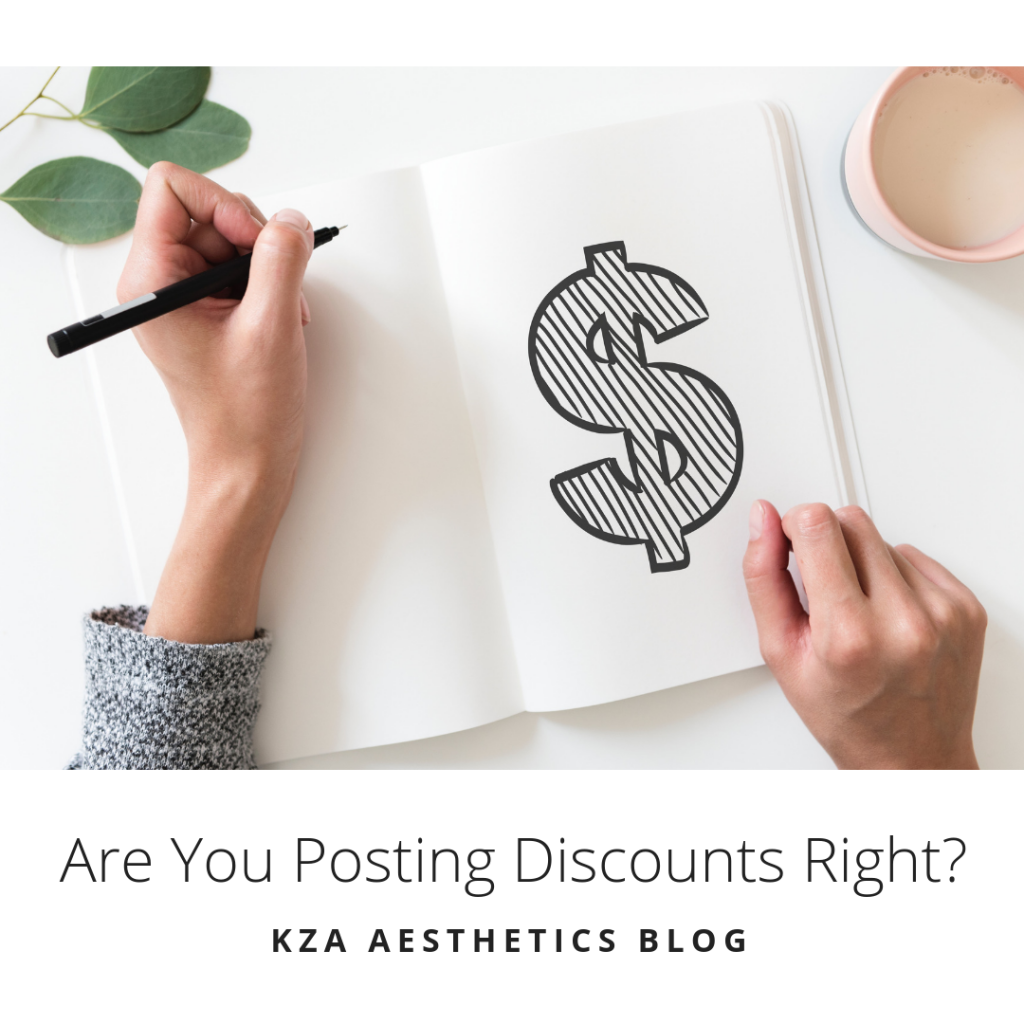 Are You Posting Discounts Right?