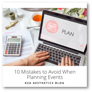 10 Mistakes to Avoid When Planning Events